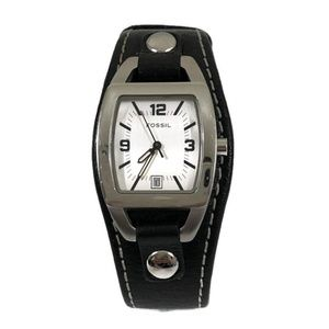 Fossil Women's Watch with Leather-Strap Black
